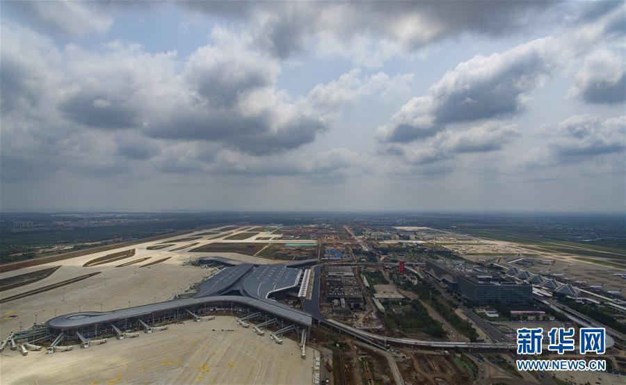 海口美兰国际机场二期工程加紧建设